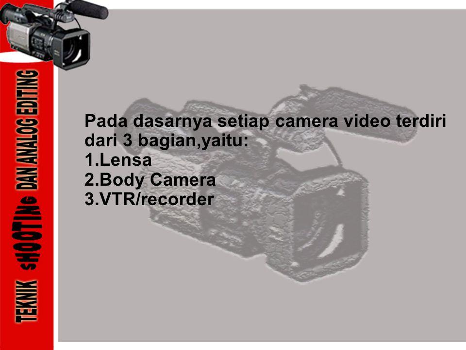 Pada dasarnya setiap camera video terdiri dari 3 bagian,yaitu: 1
