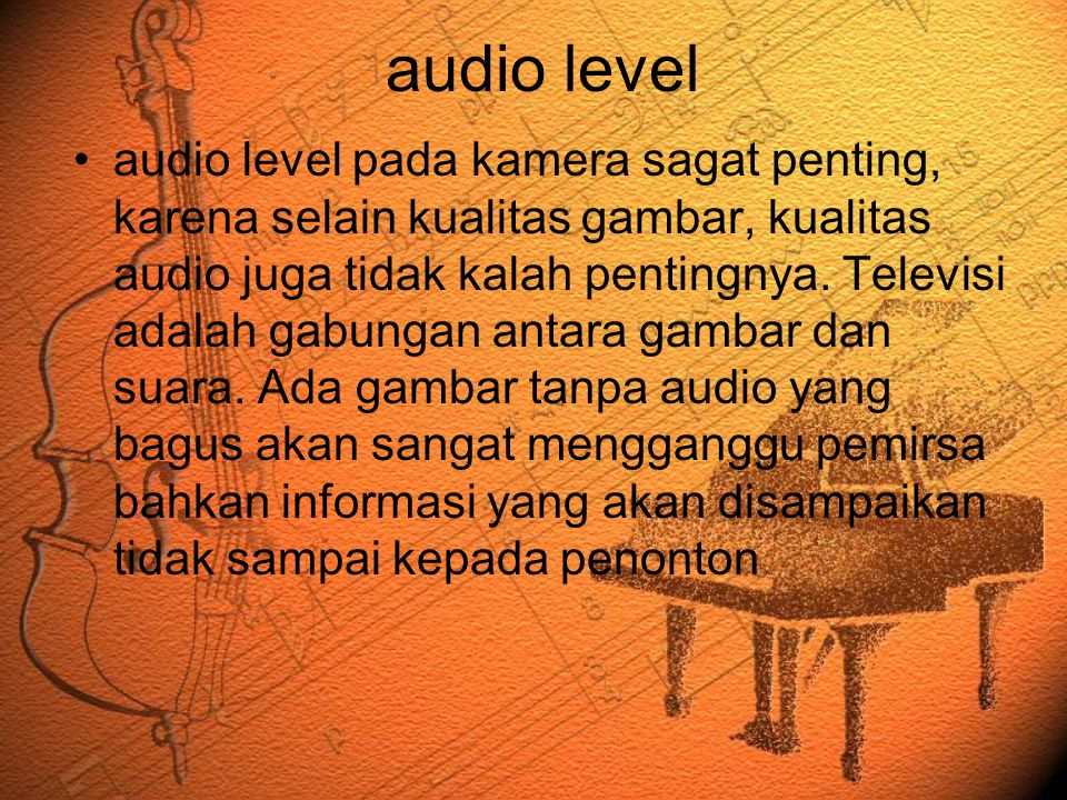 audio level