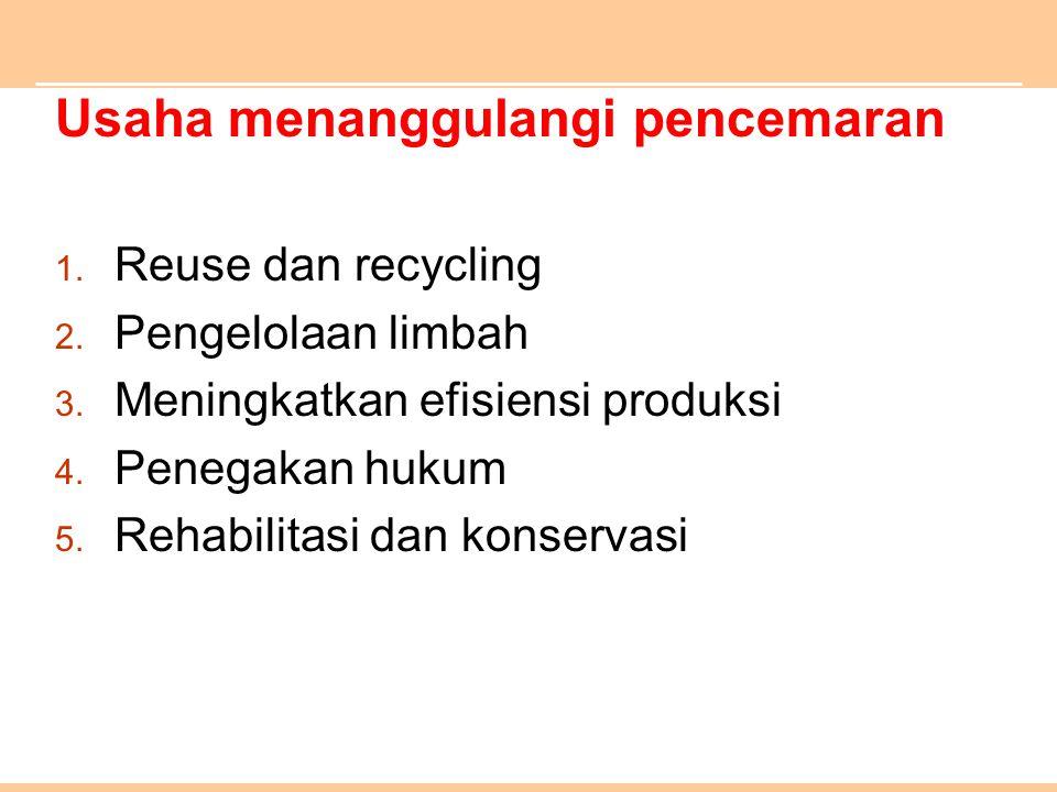 Usaha menanggulangi pencemaran