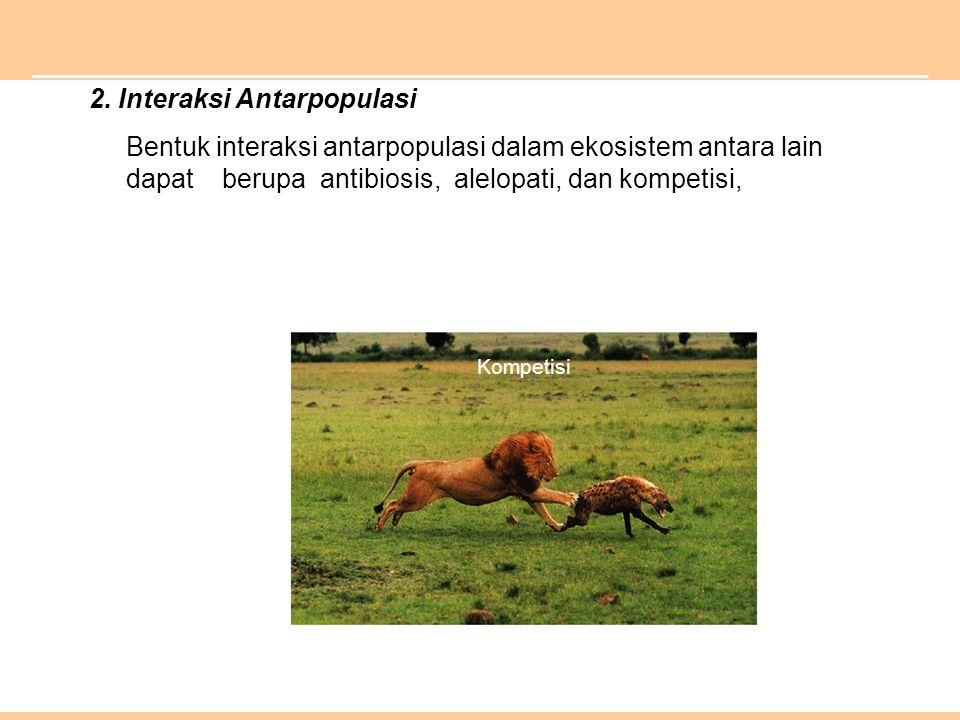 2. Interaksi Antarpopulasi