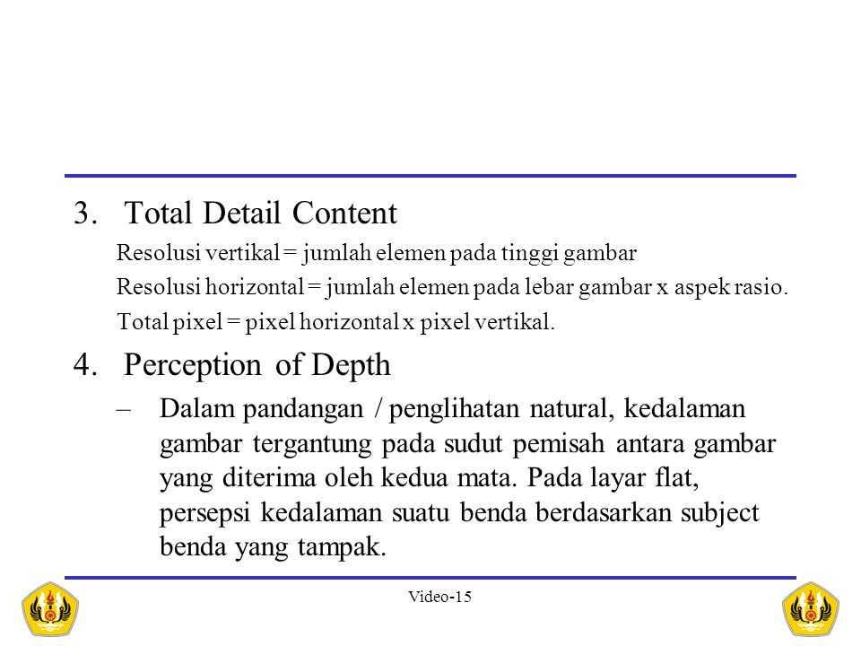 Total Detail Content Perception of Depth