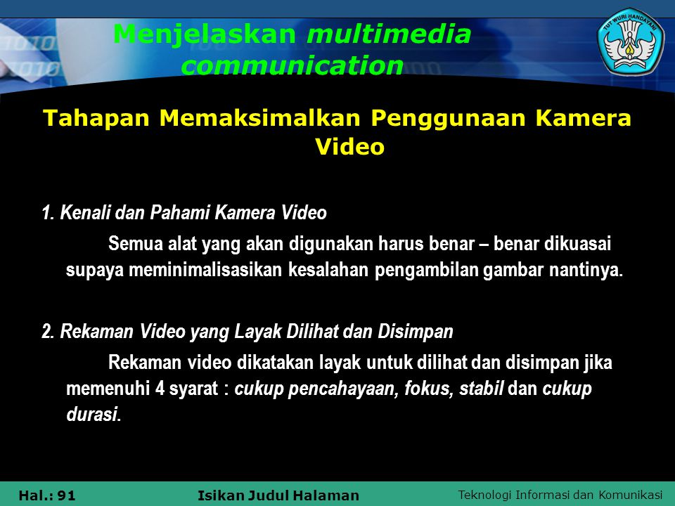 Menjelaskan multimedia communication