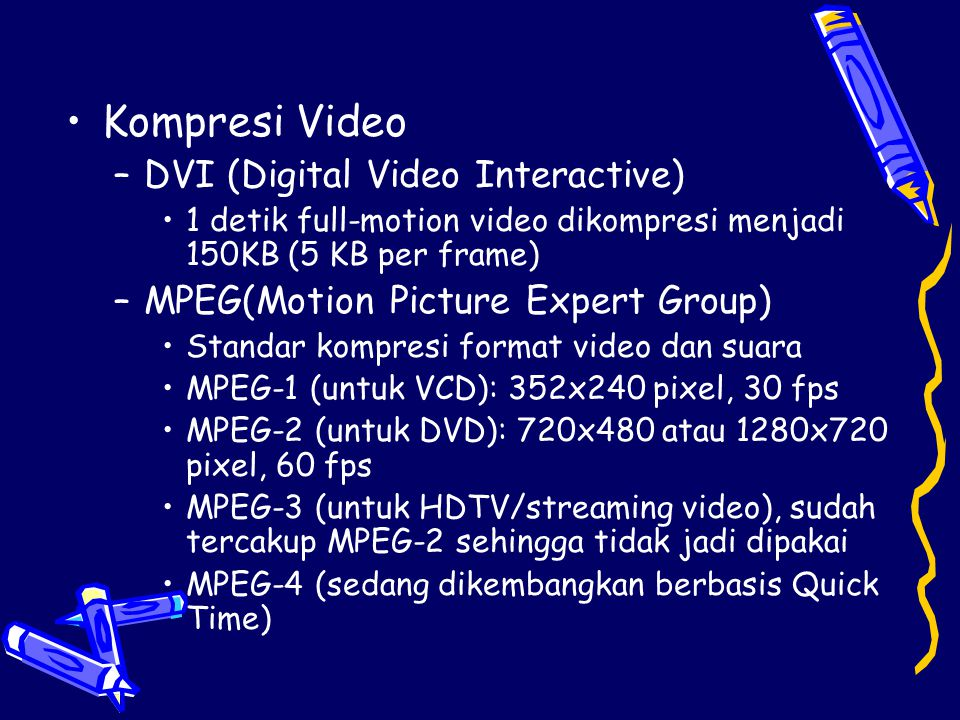 Kompresi Video DVI (Digital Video Interactive)