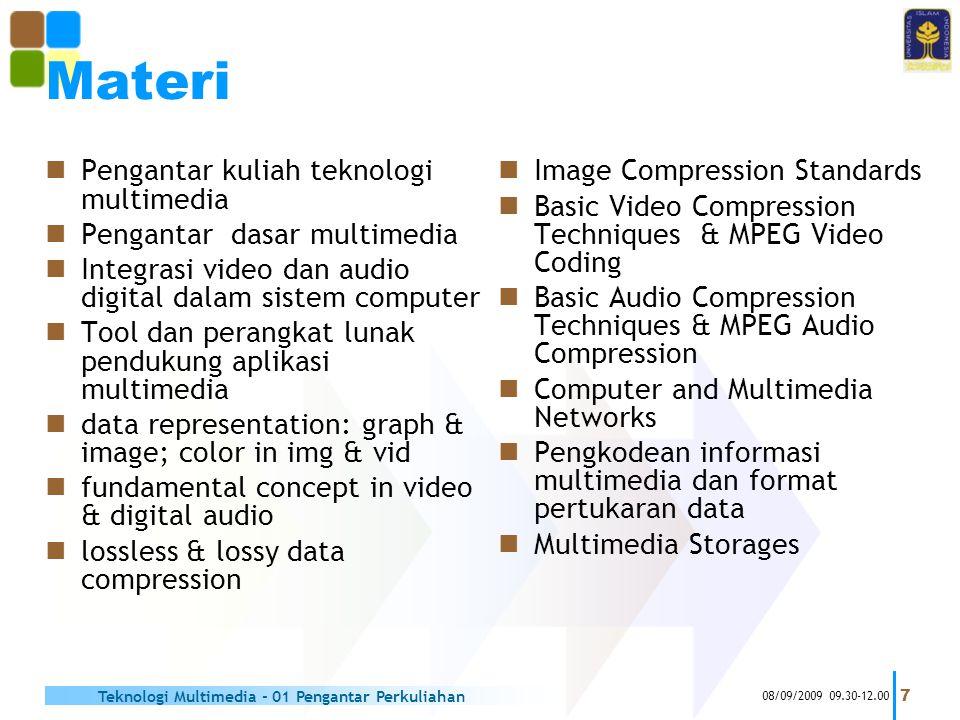 Materi Pengantar kuliah teknologi multimedia