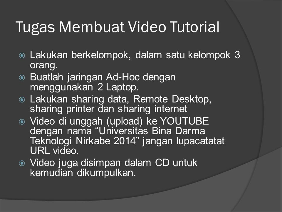 Tugas Membuat Video Tutorial