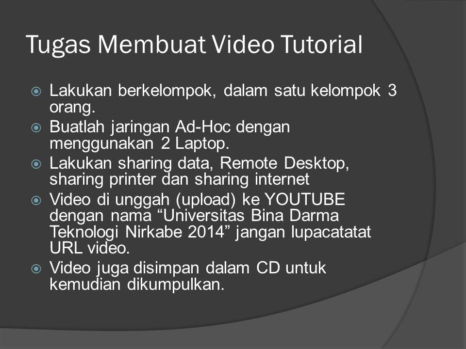 Tugas Membuat Video Tutorial