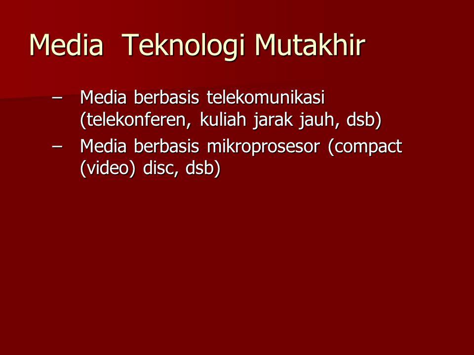 Media Teknologi Mutakhir