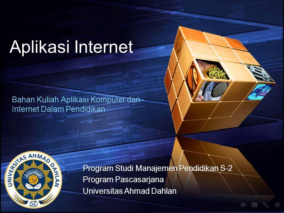 Bahan Kuliah Aplikasi Komputer dan Internet Dalam Pendidikan