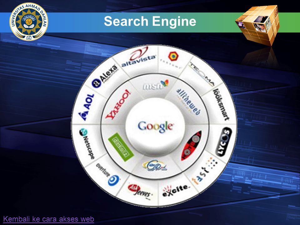 Search Engine Kembali ke cara akses web