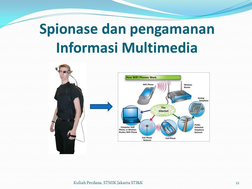 Spionase dan pengamanan Informasi Multimedia