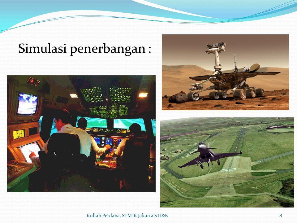 Simulasi penerbangan :