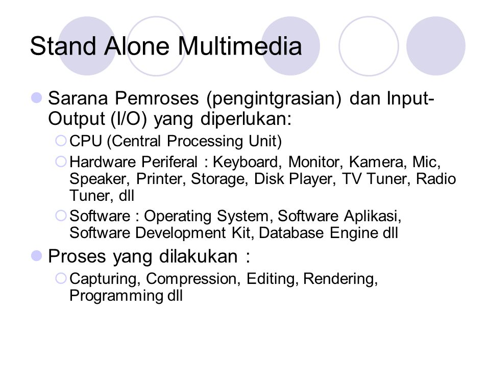 Stand Alone Multimedia