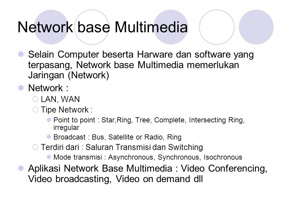 Network base Multimedia