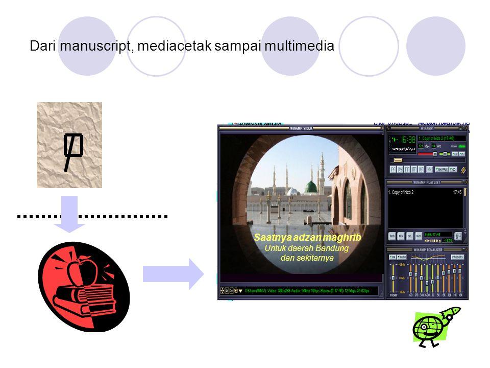Dari manuscript, mediacetak sampai multimedia