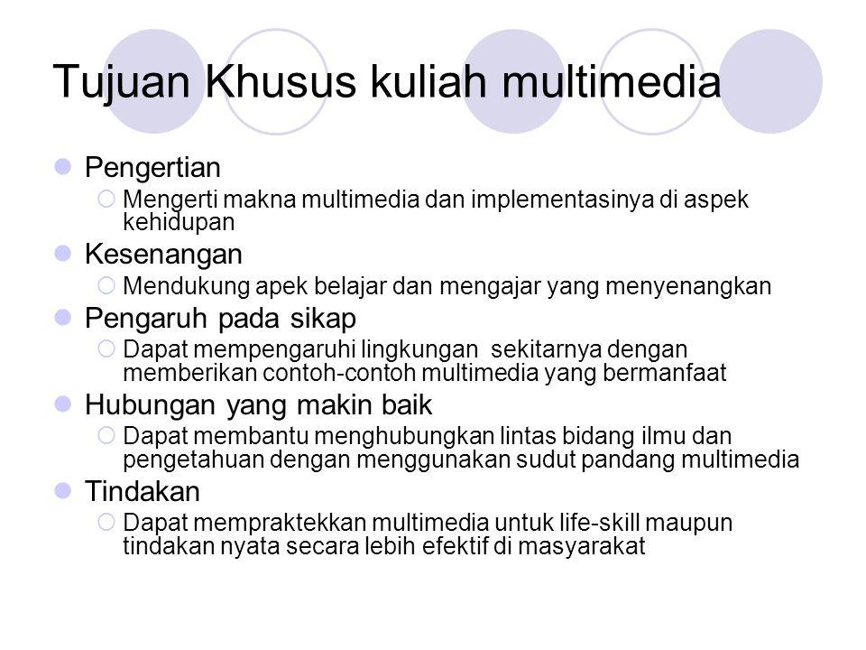 Tujuan Khusus kuliah multimedia