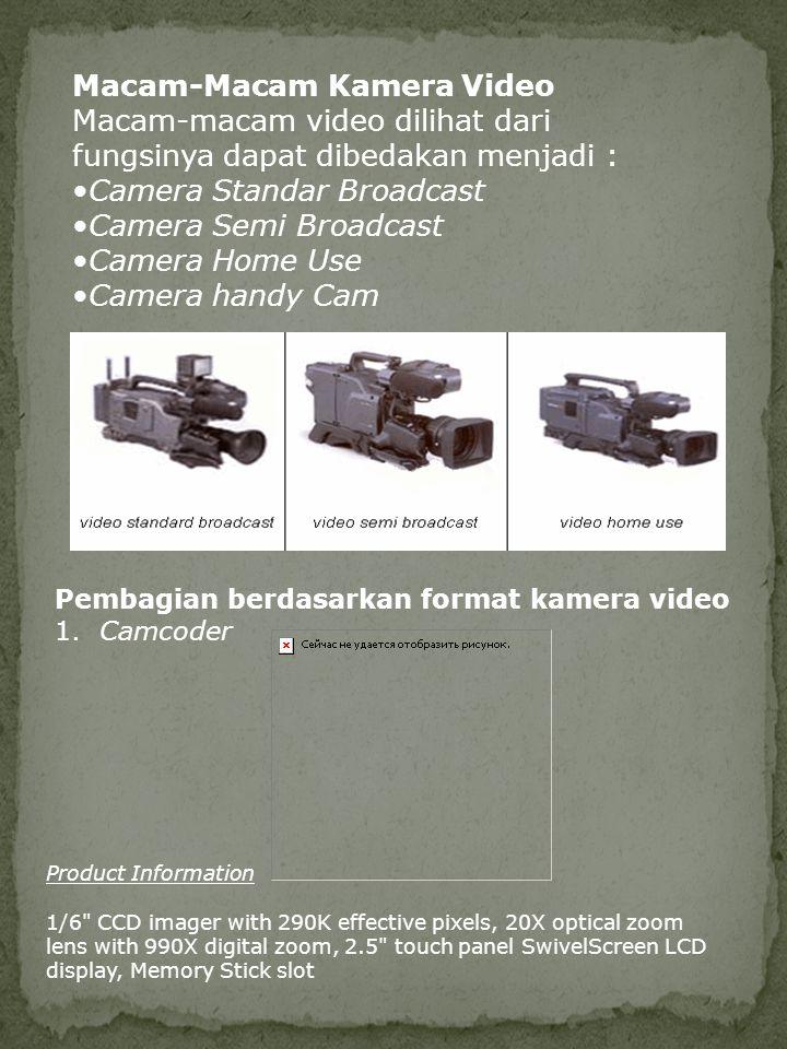 Macam-Macam Kamera Video