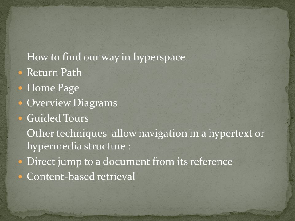 How to find our way in hyperspace