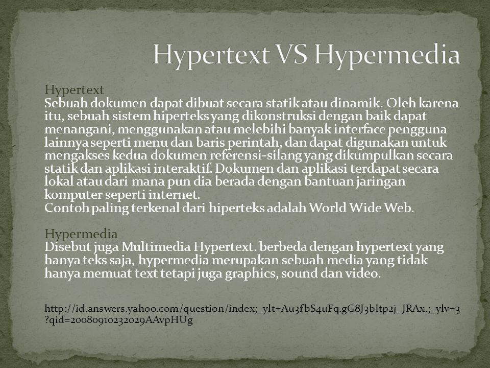 Hypertext VS Hypermedia