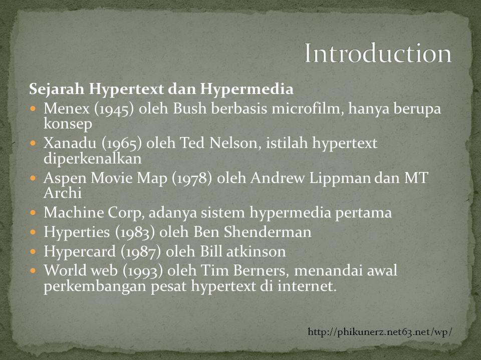 Introduction Sejarah Hypertext dan Hypermedia