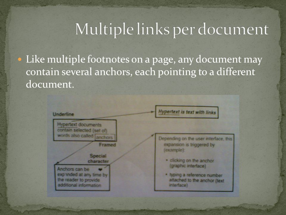 Multiple links per document