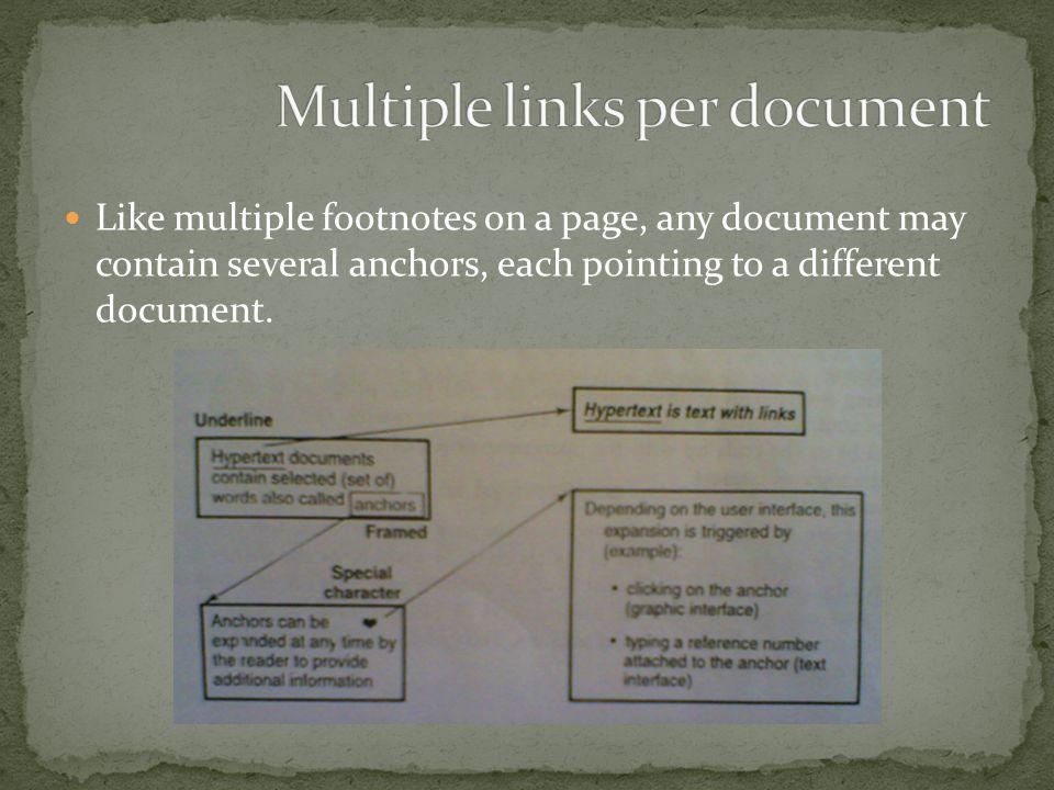 Multiple links per document