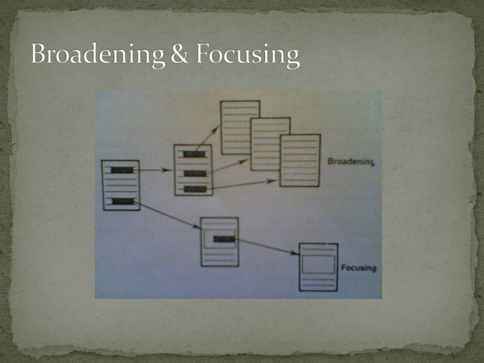 Broadening & Focusing