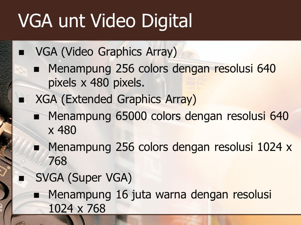 VGA unt Video Digital VGA (Video Graphics Array)