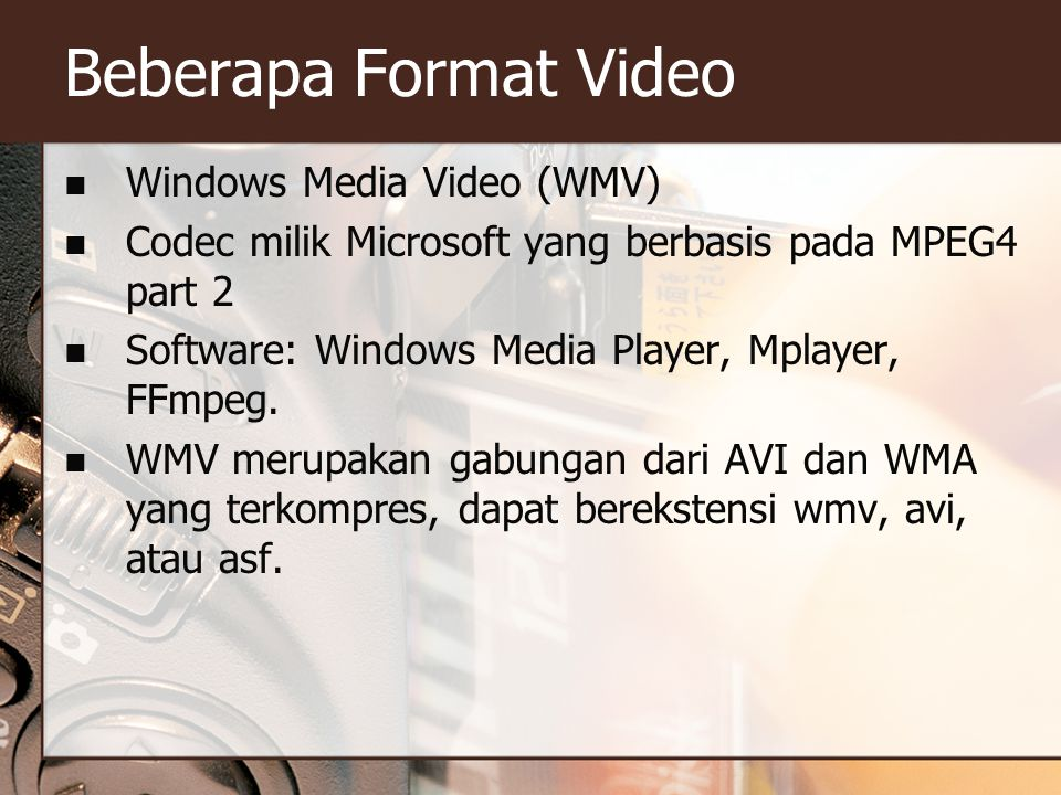 Beberapa Format Video Windows Media Video (WMV)