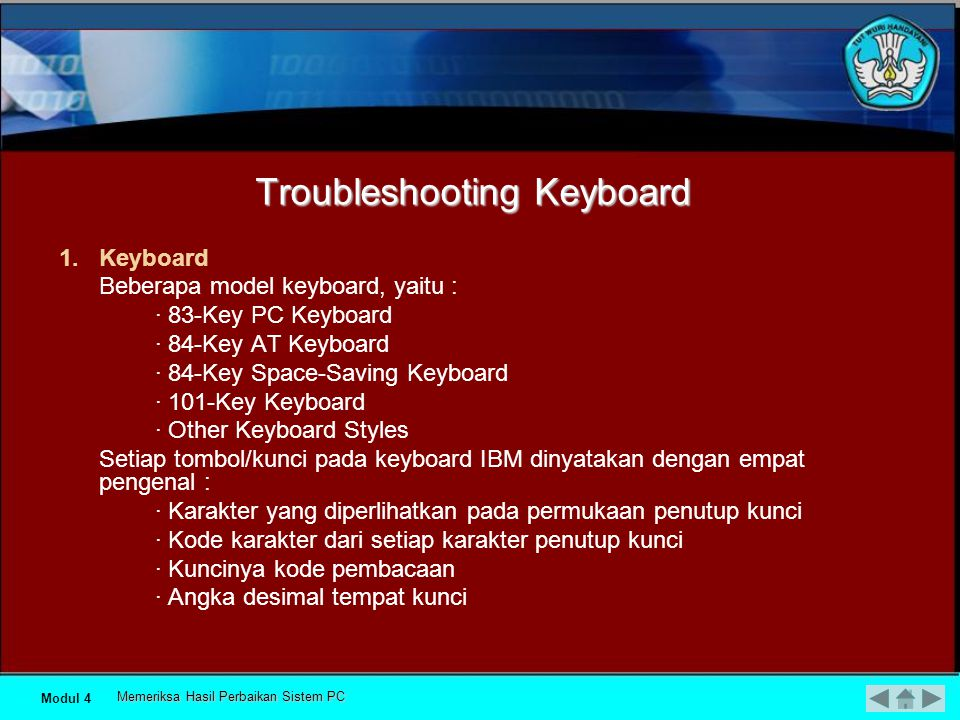 Troubleshooting Keyboard