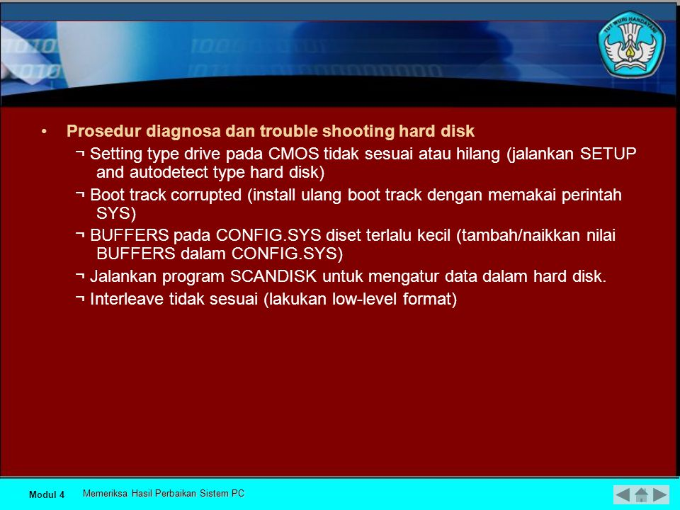 Prosedur diagnosa dan trouble shooting hard disk