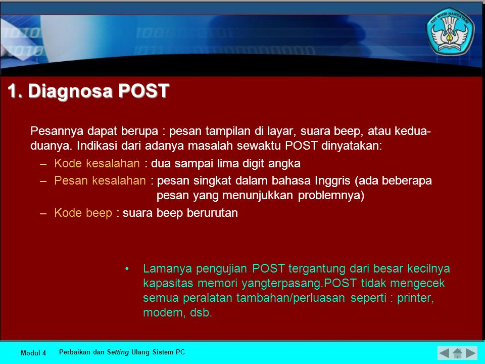 1. Diagnosa POST
