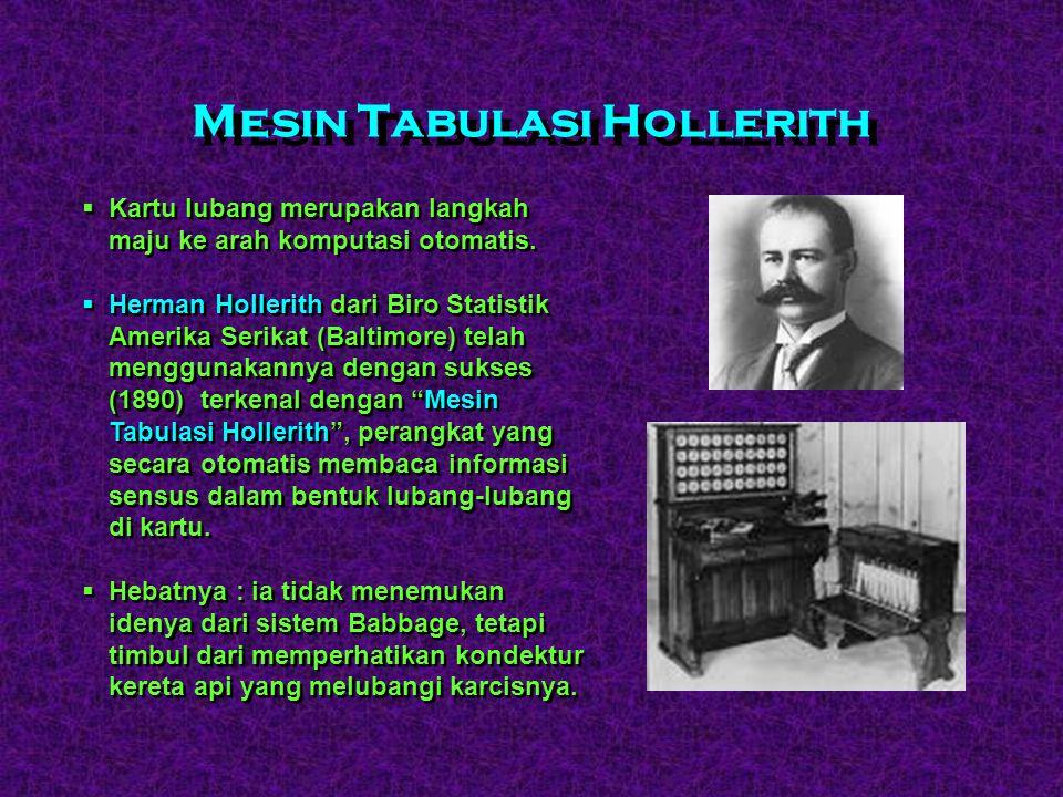 Mesin Tabulasi Hollerith