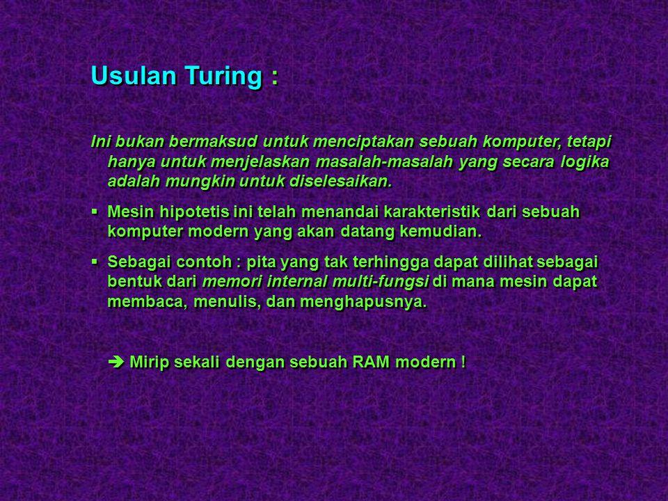 Usulan Turing :