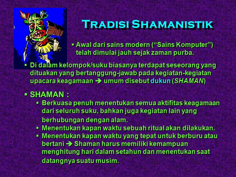 Tradisi Shamanistik SHAMAN :