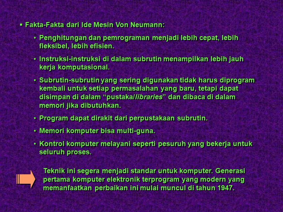 Fakta-Fakta dari Ide Mesin Von Neumann:
