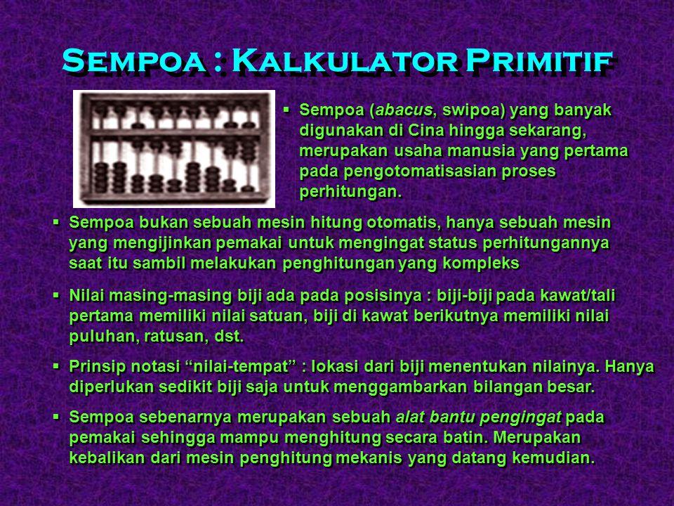 Sempoa : Kalkulator Primitif