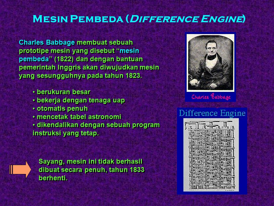 Mesin Pembeda (Difference Engine)