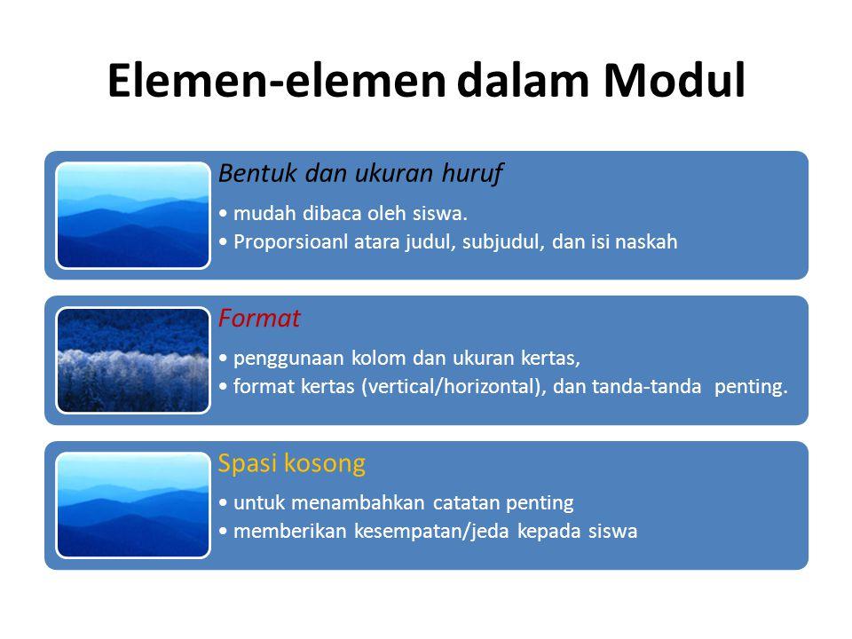 Elemen-elemen dalam Modul