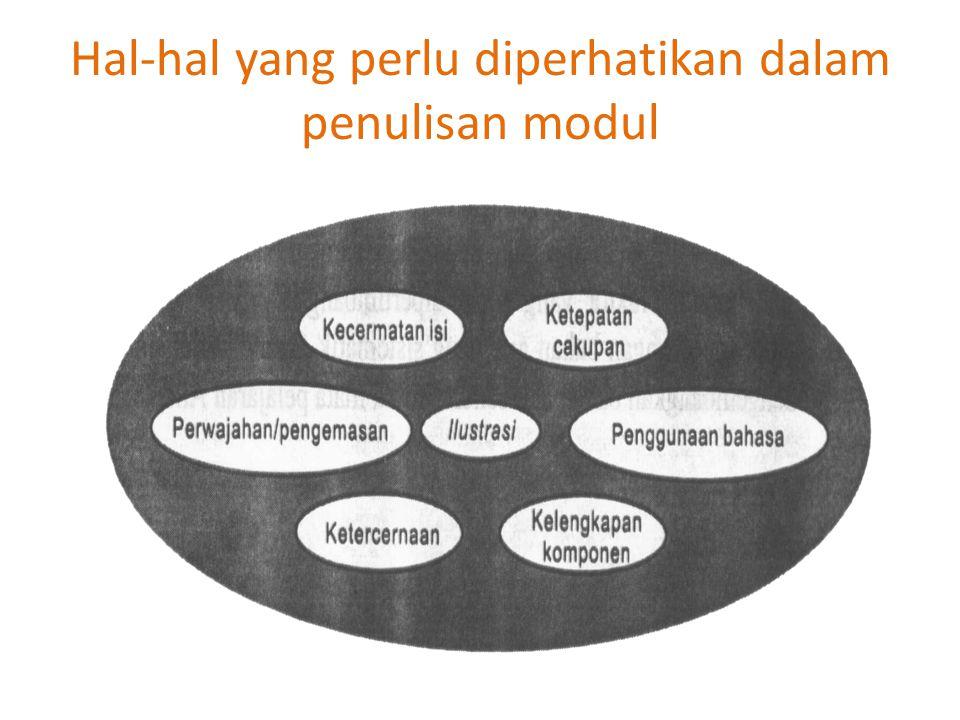 Hal-hal yang perlu diperhatikan dalam penulisan modul
