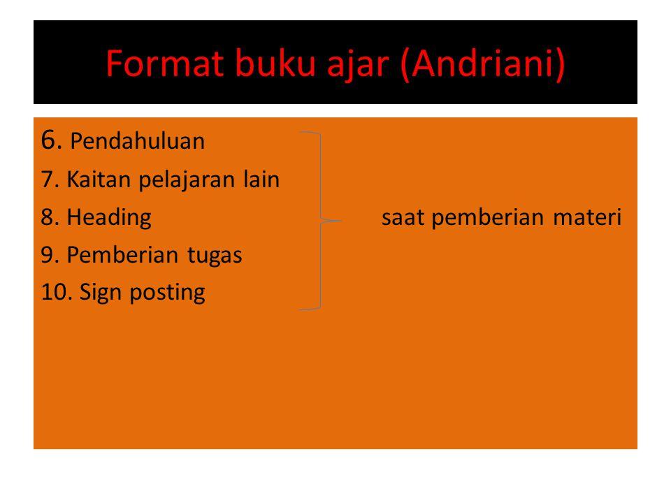 Format buku ajar (Andriani)
