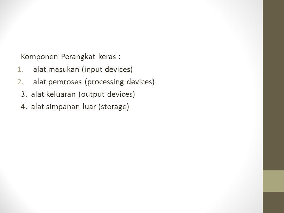 Komponen Perangkat keras :