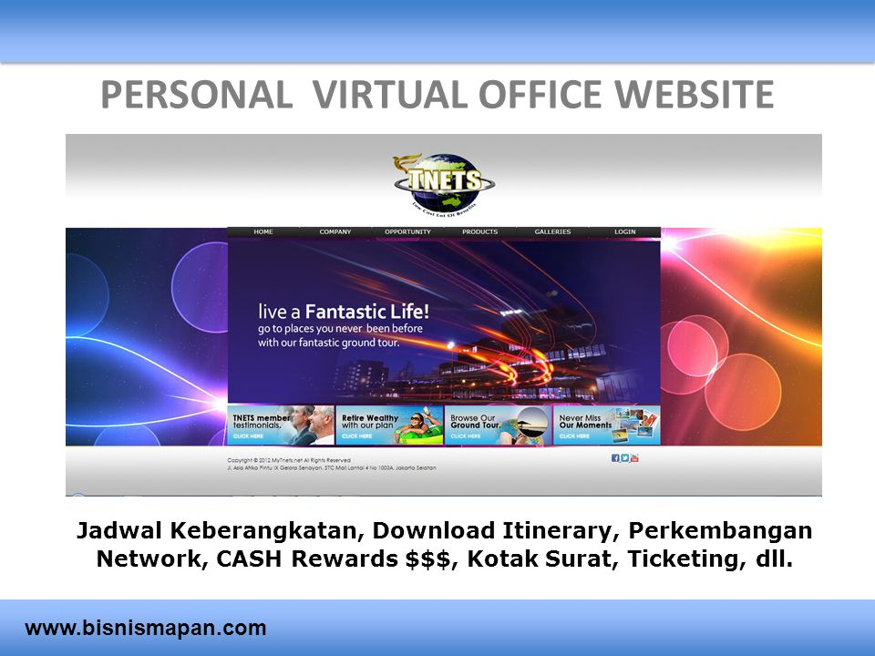 PERSONAL VIRTUAL OFFICE WEBSITE