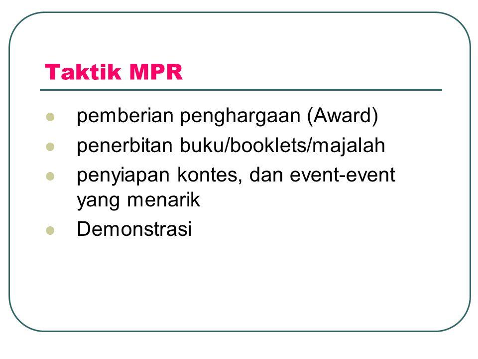 Taktik MPR pemberian penghargaan (Award)