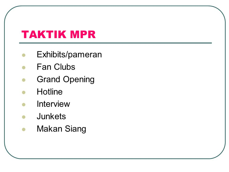 TAKTIK MPR Exhibits/pameran Fan Clubs Grand Opening Hotline Interview