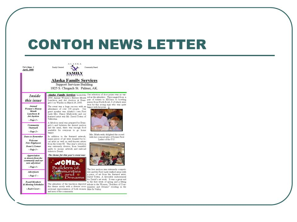 CONTOH NEWS LETTER