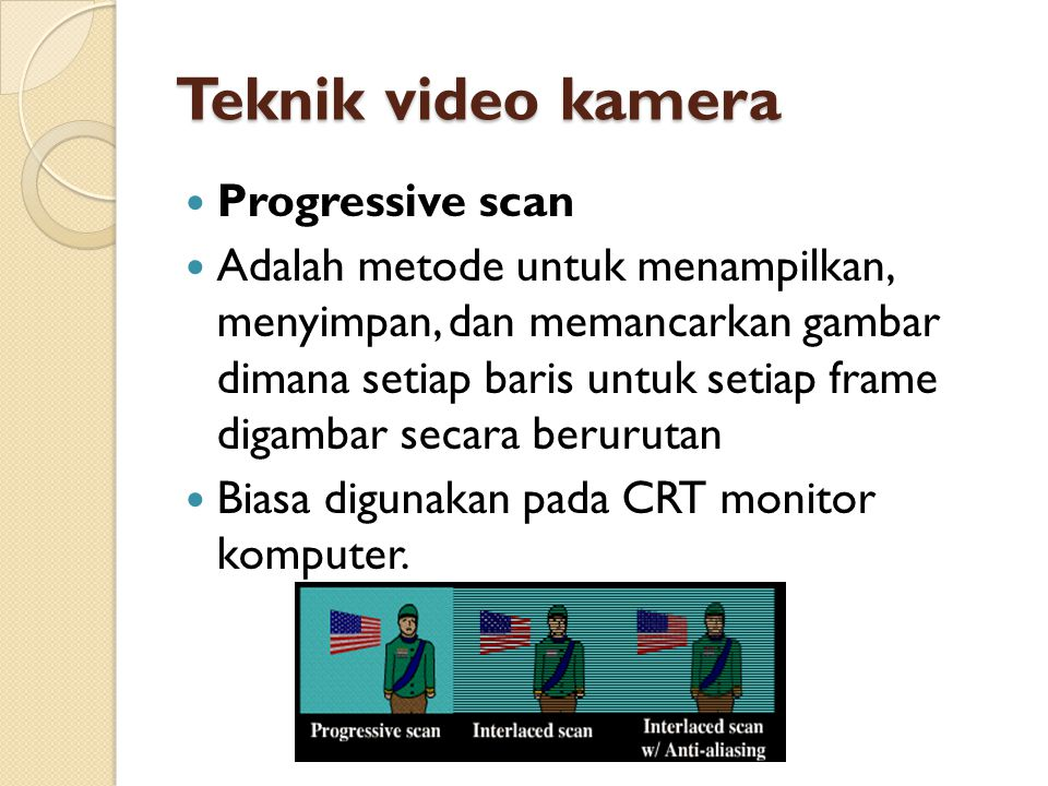 Teknik video kamera Progressive scan