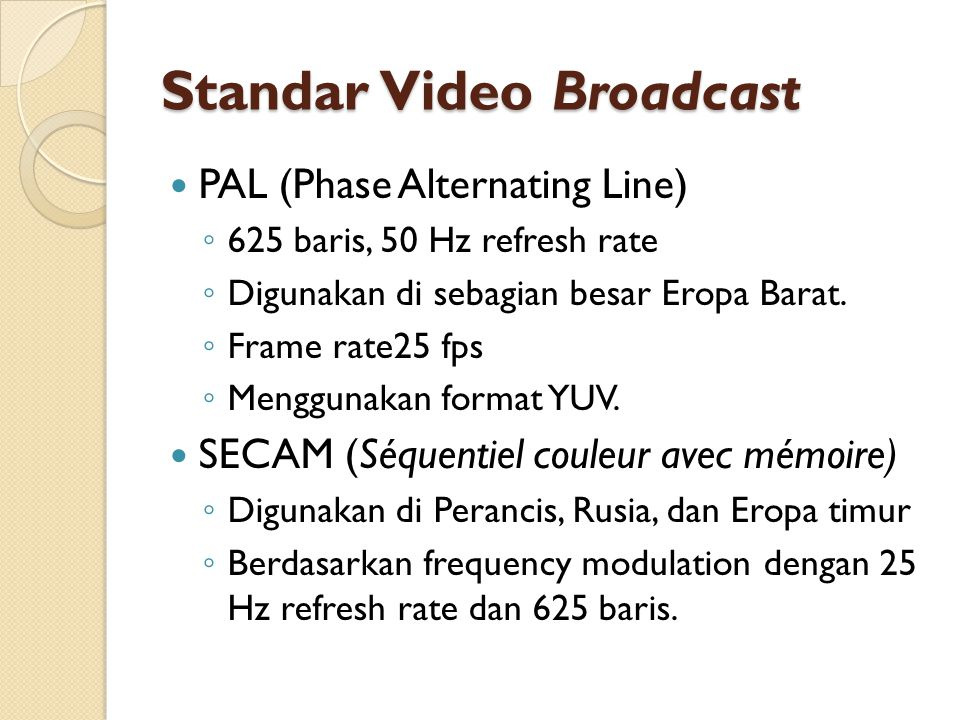 Standar Video Broadcast