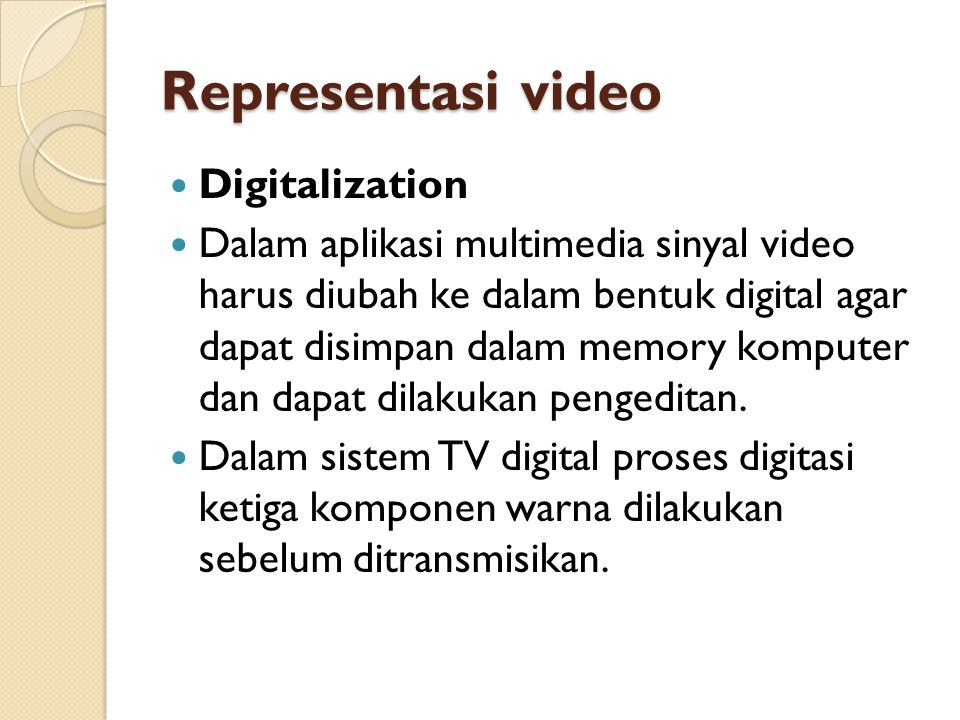 Representasi video Digitalization