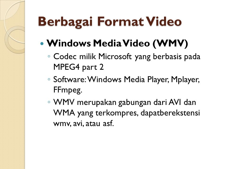 Berbagai Format Video Windows Media Video (WMV)