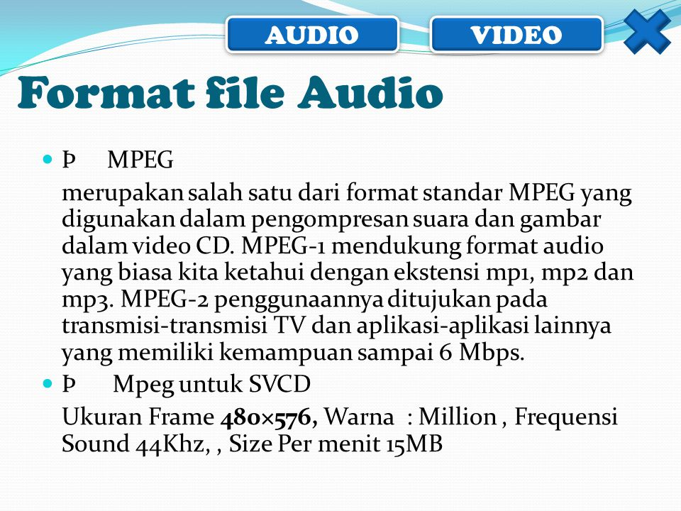 Format file Audio Þ MPEG